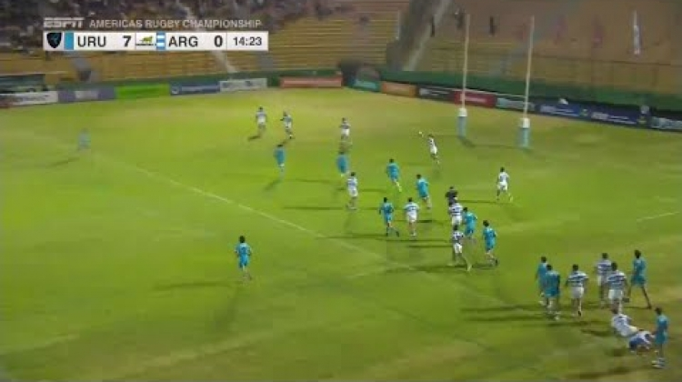 Great hit leads to try for Uruguay