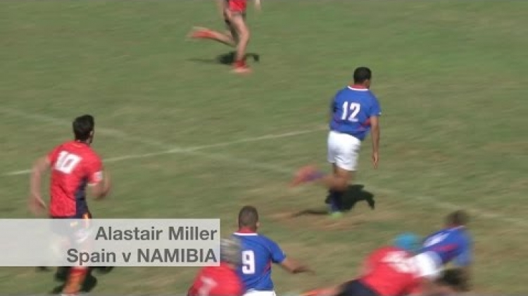 Namibia go wide for team try v Spain | U20 Trophy