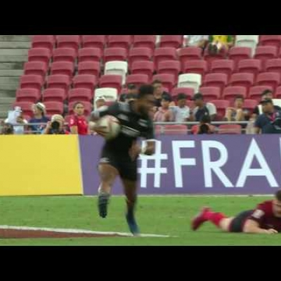Phenomenal All Blacks Sevens try in Singapore
