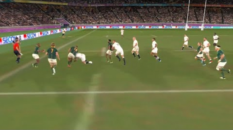 Incredible angles of South Africa's first RWC Final try