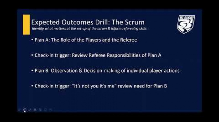 Expected Outcomes Video Drill - The Scrum