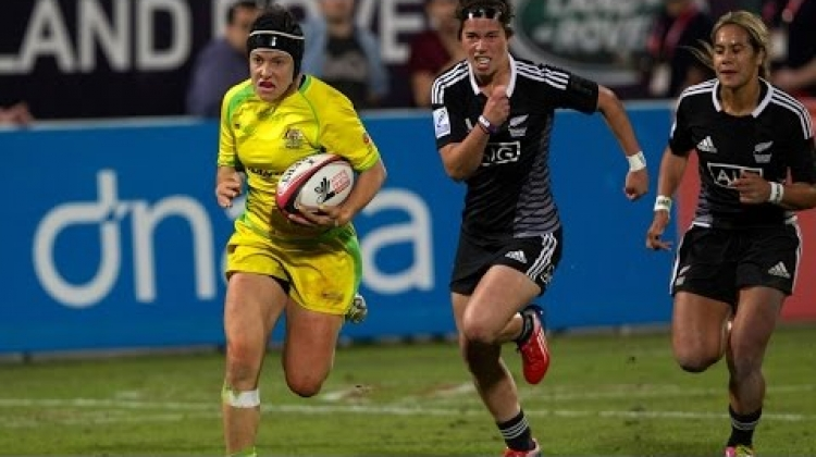 CUTTING UP DEFENCES: Australia's Emilee Cherry