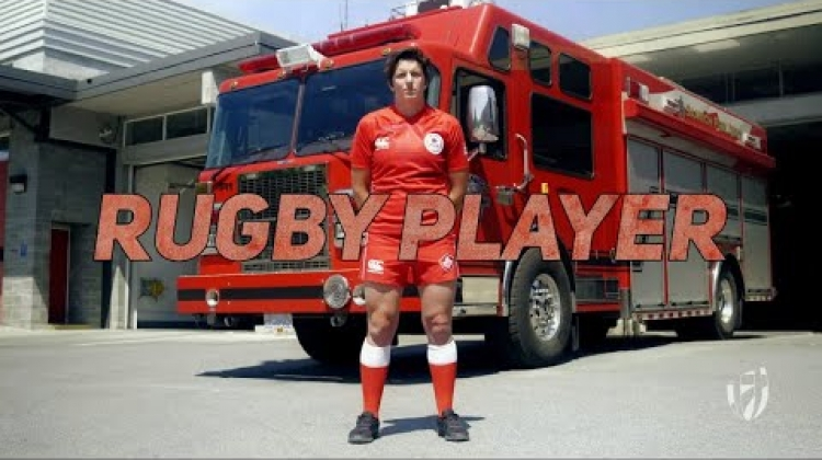 Sevens uncovered: Brittany Benn fire fighting rugby sevens player