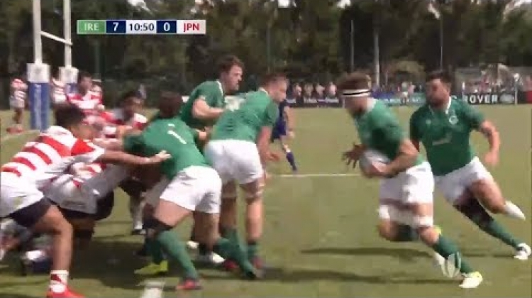Brilliant line-out move leads to Irish try