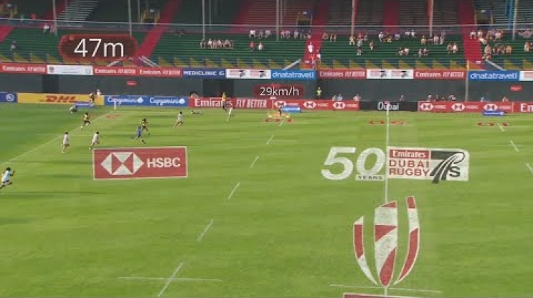 Thalia Costa hits 29 km/h at the Dubai Sevens