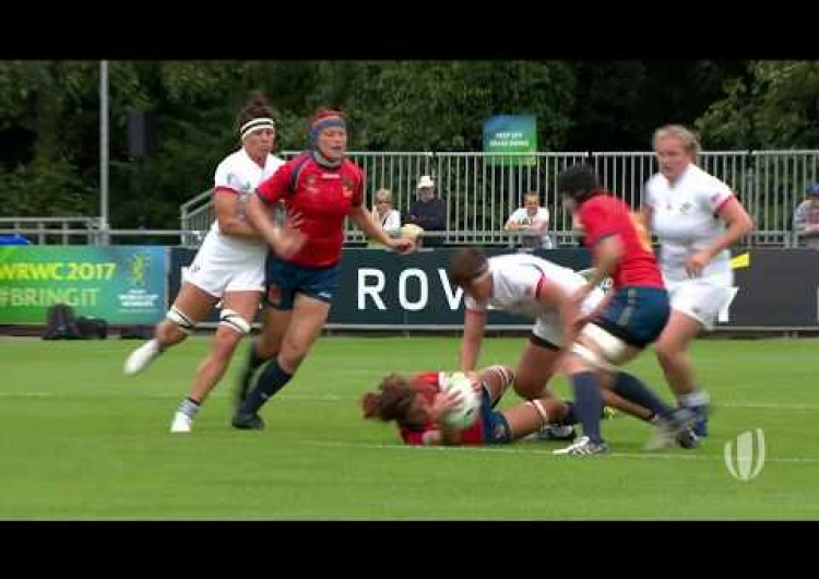 Huge tackle from USA star Sara Parsons!