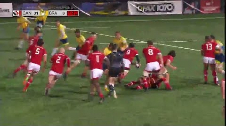 Insane offload leads to Canadian try