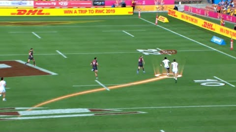 TOP 3 FASTEST SPEEDS TRACKED | New Zealand Sevens