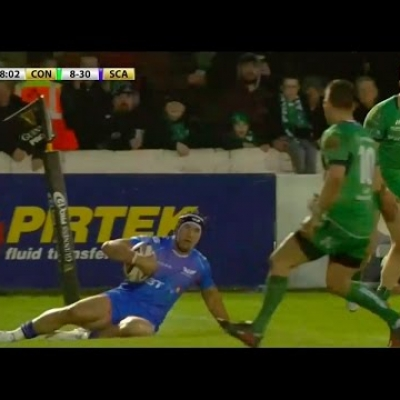 van der Merwe adds late try in Scarlets win over Connacht