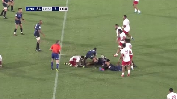 Fukuoka steps two players to score great try - Pacific Nations Cup