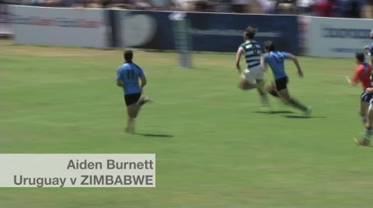 Zimbabwe score one of the tries of Round 2 | U20 Trophy