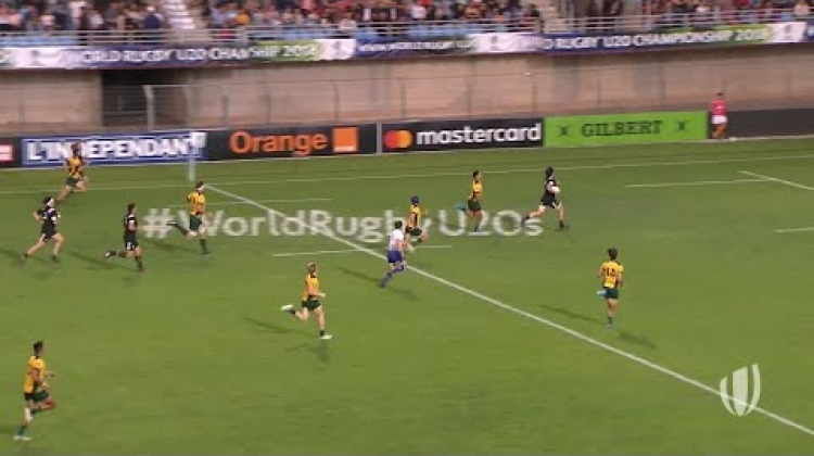 New Zealand U20s score incredible interception try!