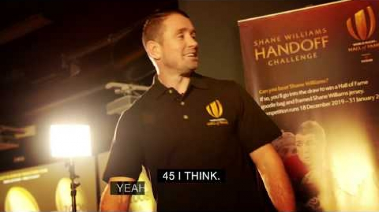 The Shane Williams Handoff challenge - World Rugby Hall of Fame