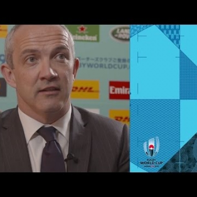 Italy's Conor O'Shea reacts to Rugby World cup draw