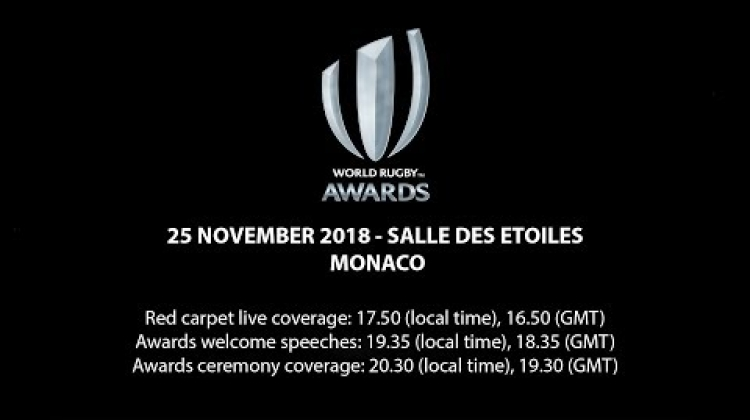 We're LIVE for the World Rugby Awards in Monaco! #WorldRugbyAwards