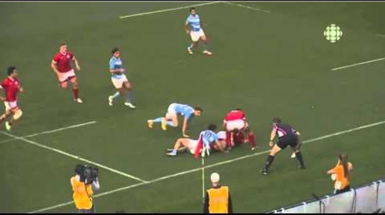 Pan Am Rugby 7s Gold Medal match - winning try highlight