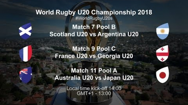 Live: World Rugby U20 Championship - Australia U20 VS Japan U20