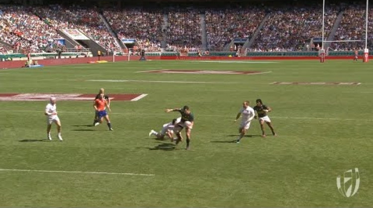 Gans scores crucial try in London 7s semi