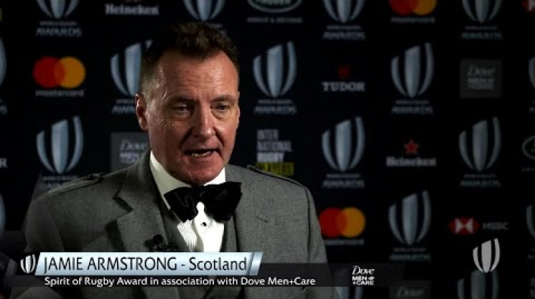 Jamie Armstrong wins Spirit of Rugby Award at World Rugby Awards