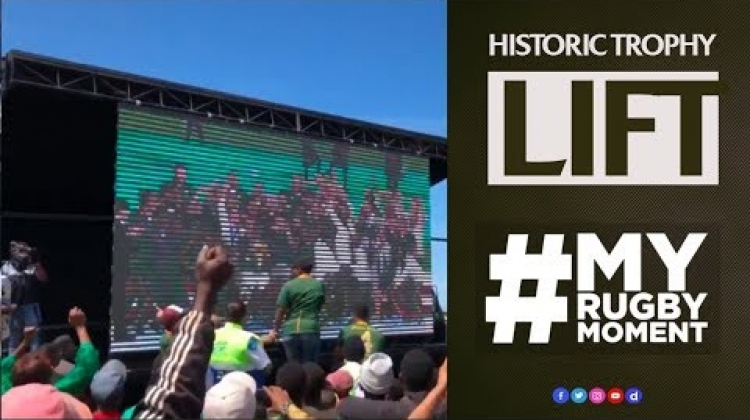 South Africa reacts to Siya Kolisi's historic trophy lift | #MyRugbyMoment