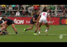 Relive: France's Julie Annery finishes brilliant team try