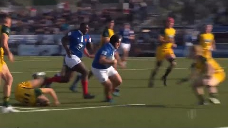 Brilliant try from France front row Theo Lachaud