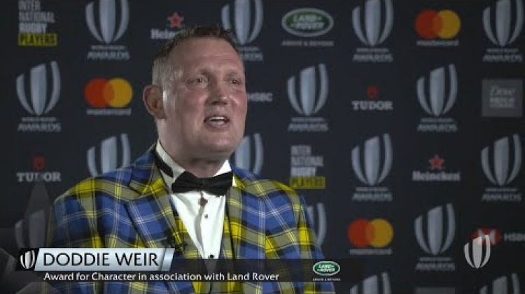 Doddie Weir's reacts to winning Award for Character