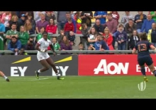 Relive: USA score length of the pitch try at Women's rugby World Cup