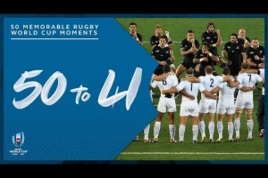 Most Memorable Moments in Rugby World Cup History | 50-41