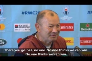Eddie Jones asks press conference if his side will will against NZ